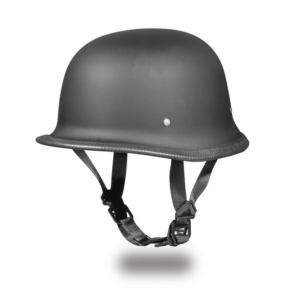 Daytona Helmets GERMAN-DULL BLACK DOT Motorcycle Helmet G1-B