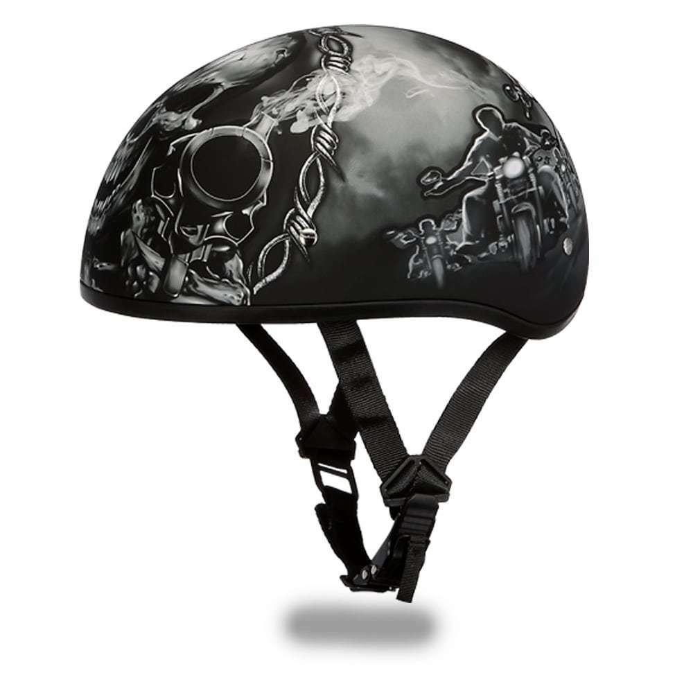 D.O.T Daytona Skull Cap W//Guns Daytona Helmets
